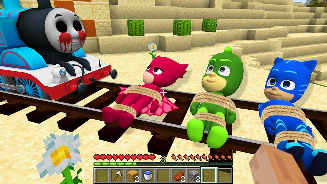 Thomas THE TANK ENGINE.EXE vs PJ MASKS in Minecraft - Coffin Meme Paw Patrol part 2