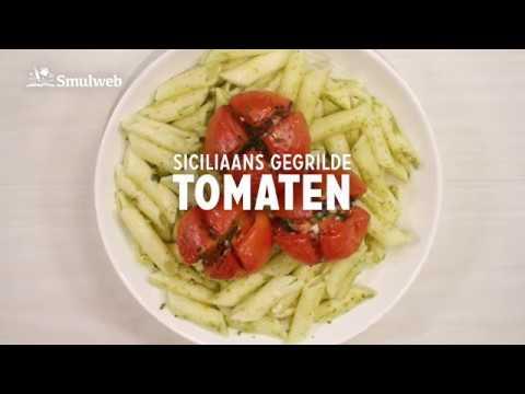 Receptvideo Gegrilde tomaten