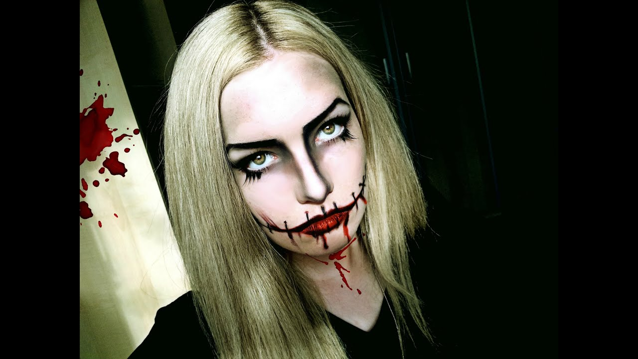 halloween makeup tutorial scary doll music by lady gaga applause