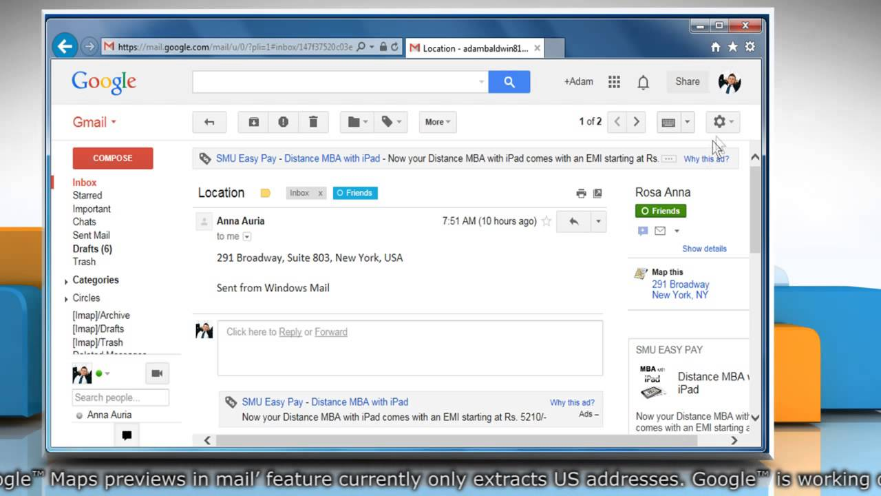 How to enable Google™ Maps previews in Gmail® Gmail Maps on netflix map, messaging map, latitude map, security map, phone map, ebay map, mosaic map, mac map, mobile map, pandora map, apple map,