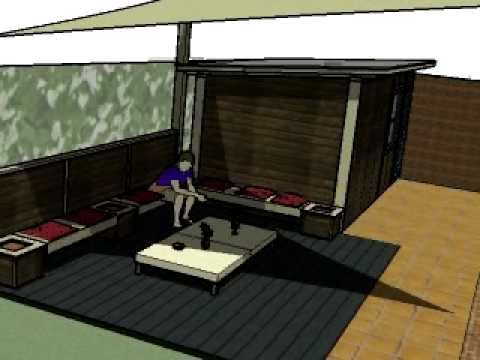 Dise o de patio en castelldefels llg youtube for Disenos para patios
