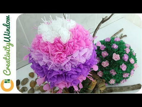 Pink and purple paper topiary youtube pink and purple paper topiary mightylinksfo