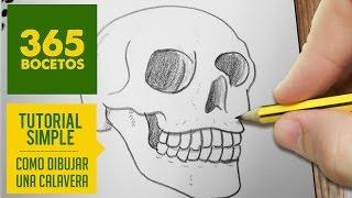 COMO DIBUJAR UNA CALAVERA / how to draw a skull