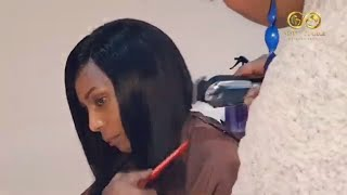 Easy #laceclosurecustomization #bobcut Lace Closure Weave Customization + Cut and Finish Only