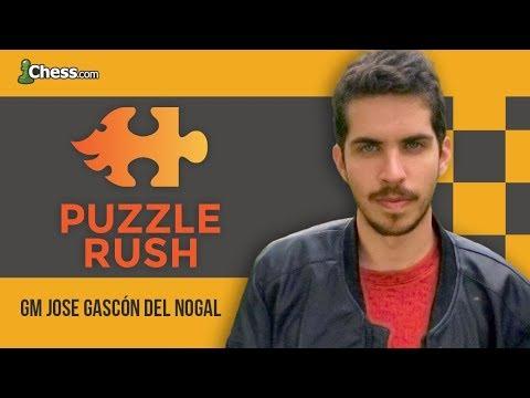 Entrenamiento de Táctica con el Puzzle Rush de chess.com
