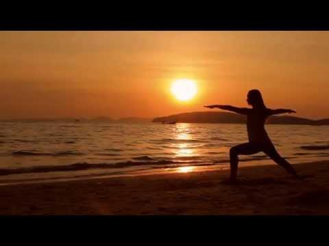 Sunset Beach Yoga - TanuriX Stock Footage NS