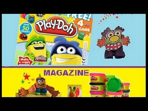Play Doh Monsters Magazine Animals Learning 123 Counting Colouring FUN Activity Children