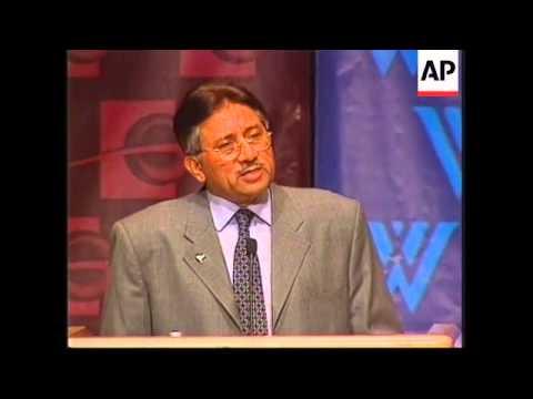 WRAP: Adds Musharraf speech