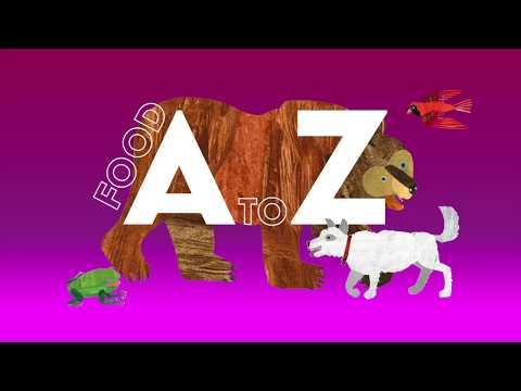 Learn ABC with Brown Bear (Bill Martin Jr & Eric Carle) - Alphabet FOOD