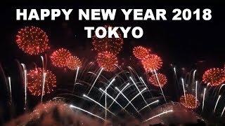 KEREN BANGET, Kembang Api Tahun baru 2018 di Tokyo, Jepang
