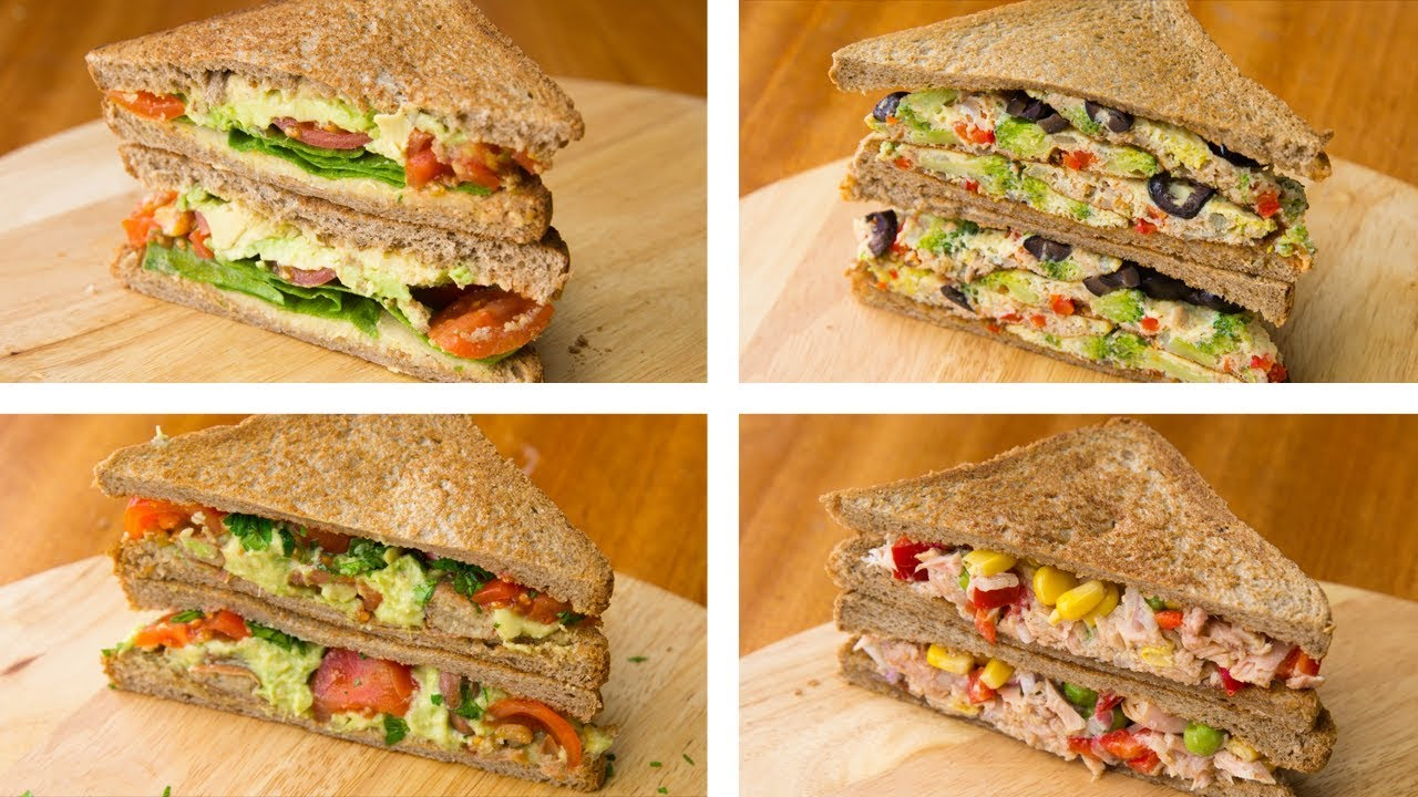 4 Healthy Sandwich Recipes For Weight Loss | Healthy Lunch ...