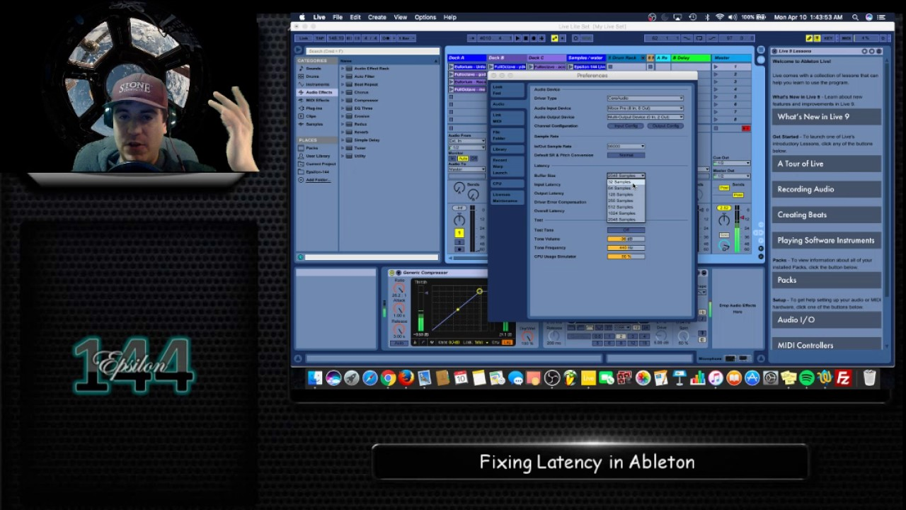Fixing Latency in Ableton