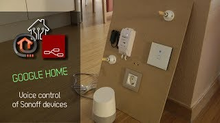 Sonoff voice control with Google Home