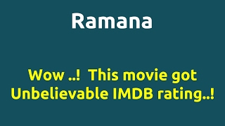 Ramana |2002 movie |IMDB Rating |Review | Complete report | Story | Cast