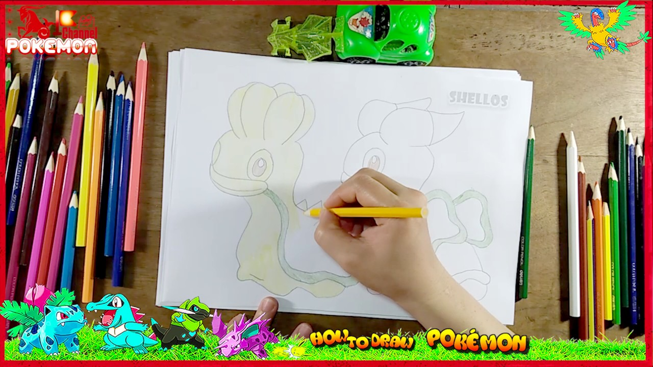how to draw and color pokemon l kids drawing simple cute pokemon