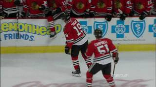 mitchell levels toews canucks at blackhawks 102109 hd