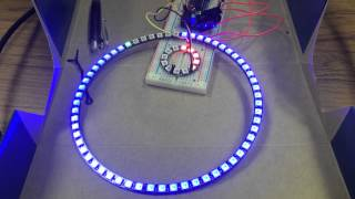 Neopixel 60 ring clock kit with colorblind mods by Ben P