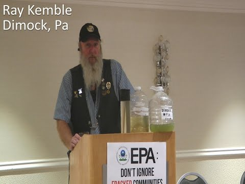 Ray Kemble speaks at Food and Water Watch/Earthworks Joint Press Conference, Washington DC