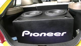 got the ports in 30 5hz tuned pioneer spl subwoofers