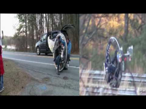 Mclean V-8 monocycle wheel