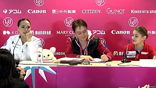 Press Conference Grand Prix Final 2019 20 Short Program