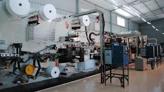 How Diaper are made in factory? || Automatic Baby Diaper Machine