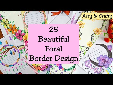 25 floral border design for project   assignment front