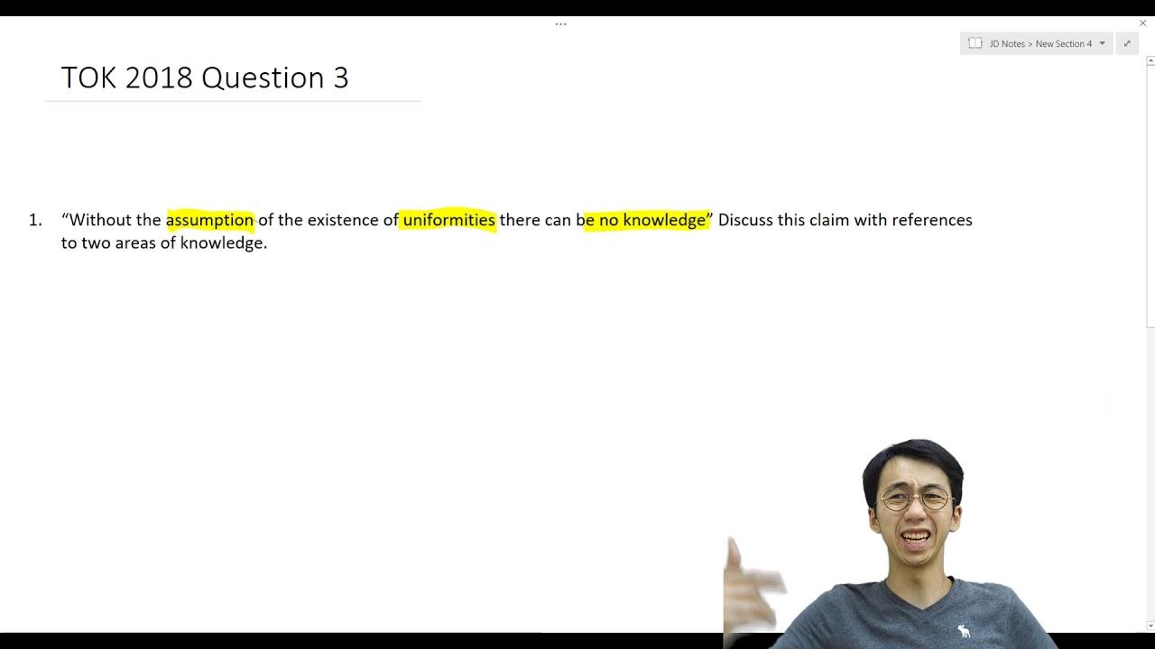 TOK 2018 Question 3 - Impression