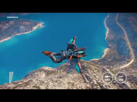 Just Cause 3 Sky Fortress DLC: Jet Pack + Wing Suit Flying Through Medici With No Woes
