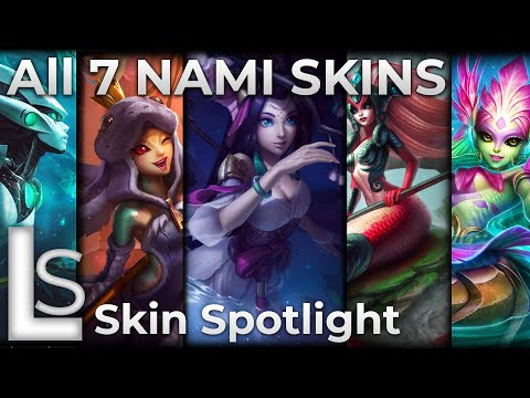 ALL NAMI SKINS 2020 - Skin Spotlight - League of Legends - Patch 10.22.1 - LATEST SKINS
