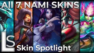 ALL NAMI SKINS 2020 - Skin Spotlight - League of Legends - Patch 10.22.1 - LATEST SKINS
