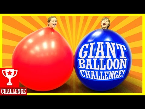 GIANT BALLOON CHALLENGE!  BLOOD, FARTS, AND TEARS!  |  KITTI