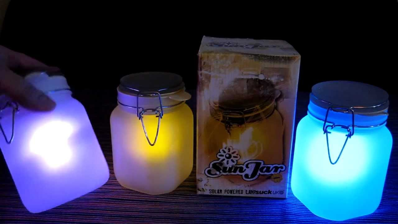 Sun Jar Solar Powered Night Light Hands On Review Of
