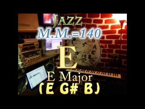 e major (e g# b) - jazz - m.m.=140 - one chord backing track