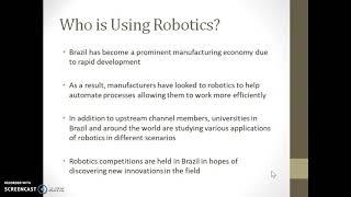 CIS 3620 Robotics in Brazil