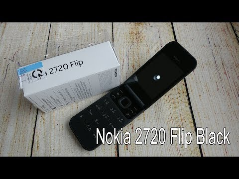 Nokia 2720 Flip 4G black unboxing and camera, game tested
