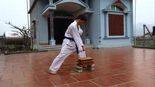 Công phá 5 viên ngói bằng tay - Võ thuật Karate-Do