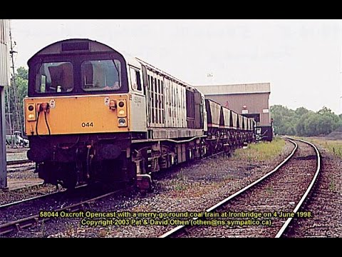 Class 58 unloading coal at Ironbridge Power Station June 1998