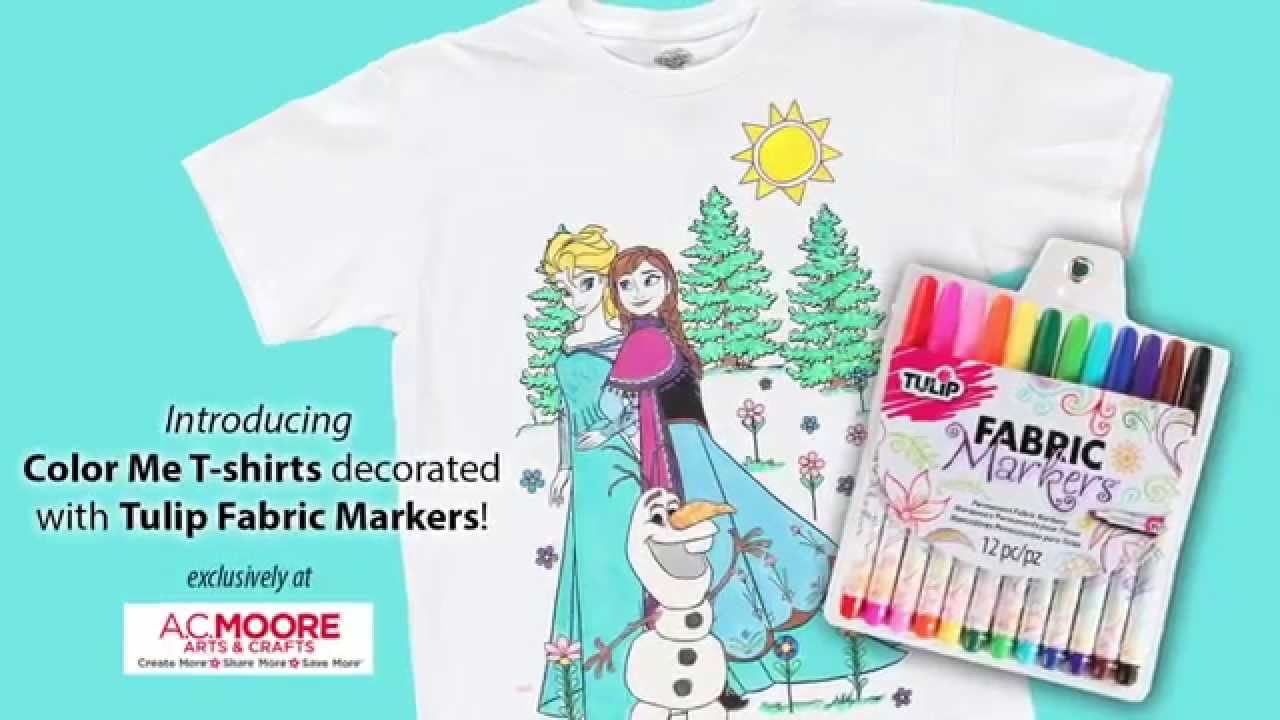 Color Me Shirts Tulip Fabric Markers Youtube