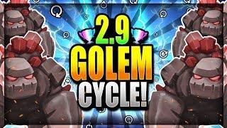 FASTEST GOLEM CYCLE EVER!! CRAZY 2.9 CYCLE DECK!! Clash Royale Golem Deck