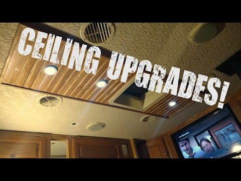 RV Life: New ceiling woodwork and LEDs installed - YouTube on motorhome flooring, transport ceiling designs, kitchen ceiling designs, motorhome interior design, classic ceiling designs, commercial ceiling designs, motorhome murals, motorcoach ceiling designs, motorhome furniture, hotel ceiling designs, office ceiling designs, motorhome bathroom,