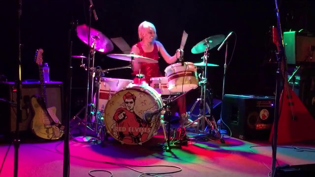 Jasmin Guevara drum solo - The Red Elvises - YouTube