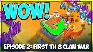 The Worst Clan War Attack I've Ever Seen! | TH 8 F2P Let's Play Series Ep. 2 | Clash of Clans