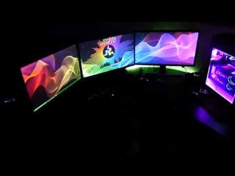 Setup 2018 Razer Wallpaper Engine Audio Visualizer Rgb Fusion Triple Screen