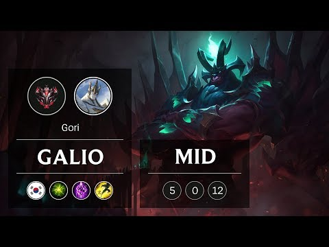 Galio Mid vs Vladimir - KR Grandmaster Patch 9.3