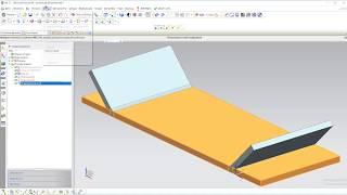 Развертка листовой детали. Siemens NX.