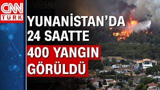 Yunanistan'da orman yangınları kontrol altına alınamıyor!