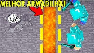 Minecraft: ARMADILHA DA LAVA   Afreim [ Troll Craft ]