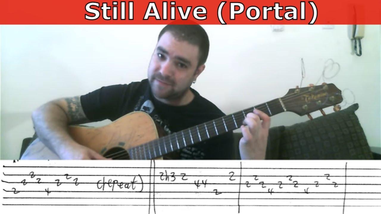 Fingerstyle Tutorial Still Alive Portal Guitar Lesson W Tab