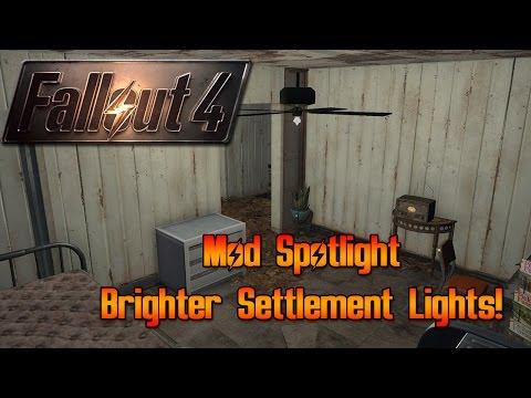 Fallout 4 Mod Spotlight! Brighter Settlement Lights!